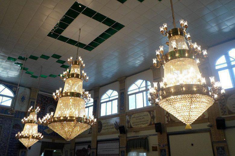 لوستر مسجدی سه طبقه